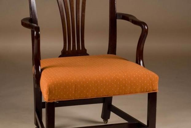 Old English Mahogany Armchair