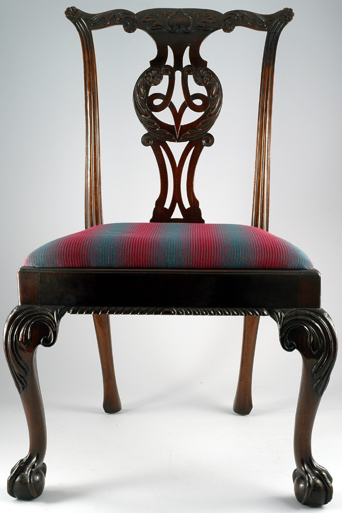 Antique Chippendale Style Side Chair - Chippendale Style Side Chair