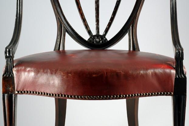 Antique Shield Back Armchair