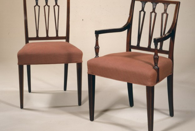 8 Sheraton Style Dining Chairs