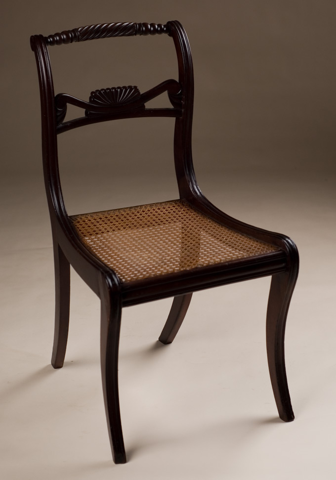 Regency Style Chairs ~ English regency style side chair