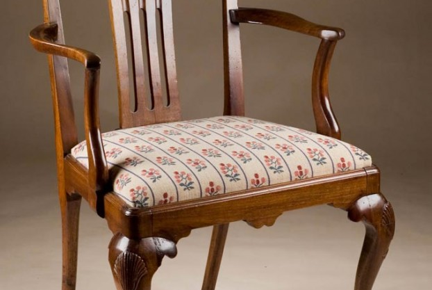 Antique Chippendale Armchair On Cabriole Legs