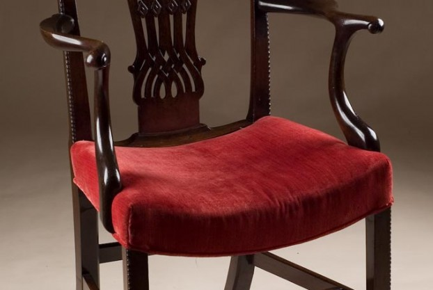 English Antique Chippendale Armchair