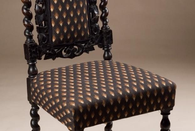 Carved Oak Side Chair