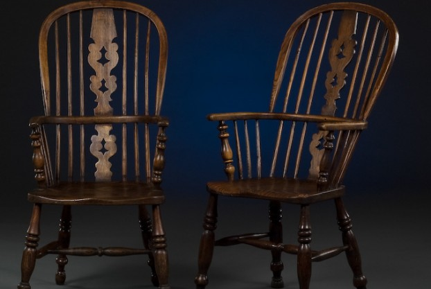 Pair of English Windsor Chairs