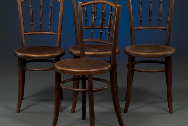 Set of Continental Cafe Chairs
