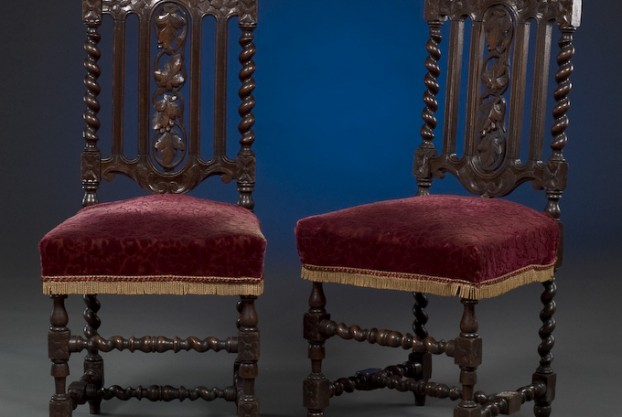 Pair of Jacobean Style Chairs