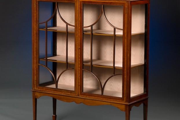 Inlaid Mahogany Display Cabinet