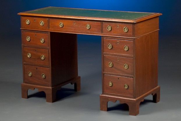 Late 19th Century Pedestal Desk