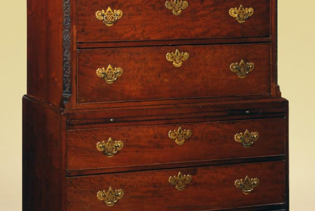 English Antique Chest On Chest