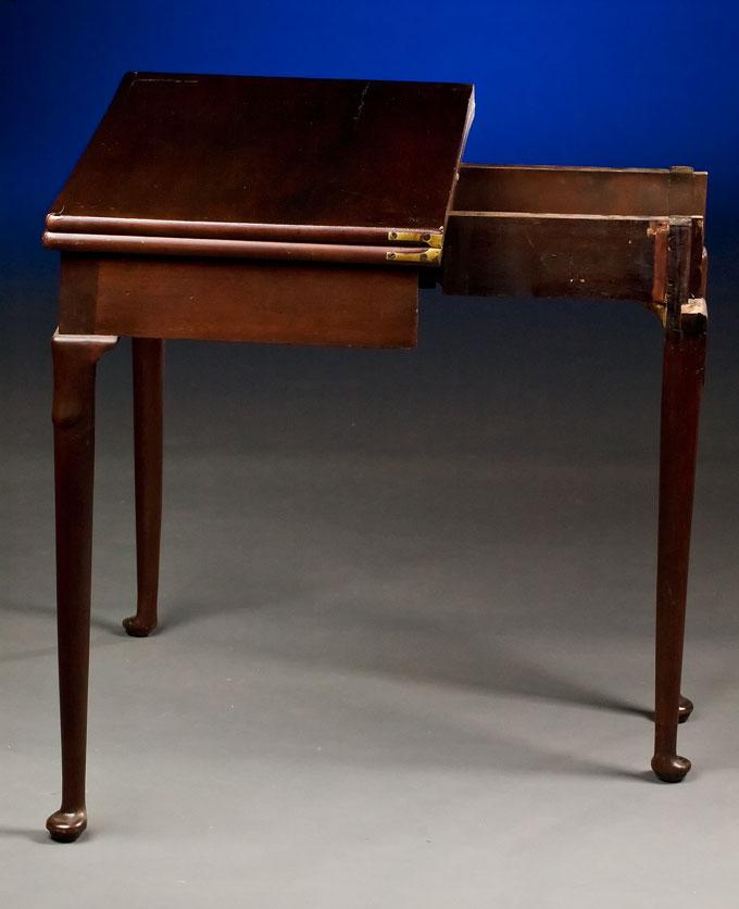 english folding top card table. Black Bedroom Furniture Sets. Home Design Ideas