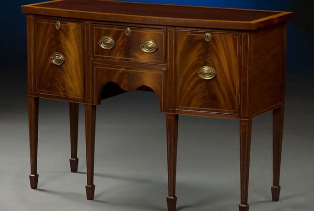 19th Century Bow Front Sideboard