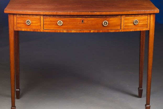 English Bow Front Serving Table