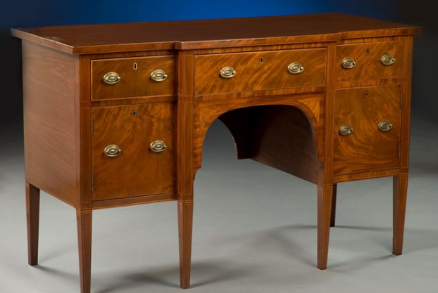 English Antique Breakfront Sideboard