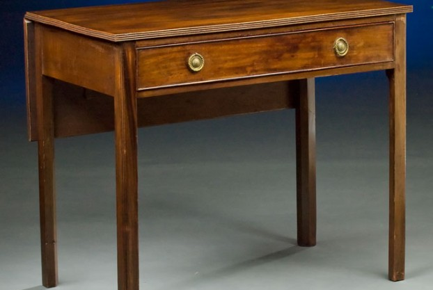 19th Century Side Table With Leaf