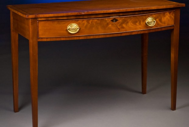 George III Bow Front Side Table