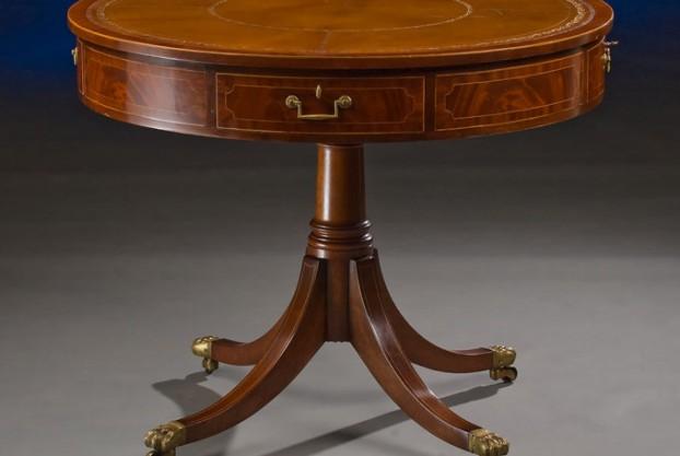 Sheraton Style Custom Drum Table