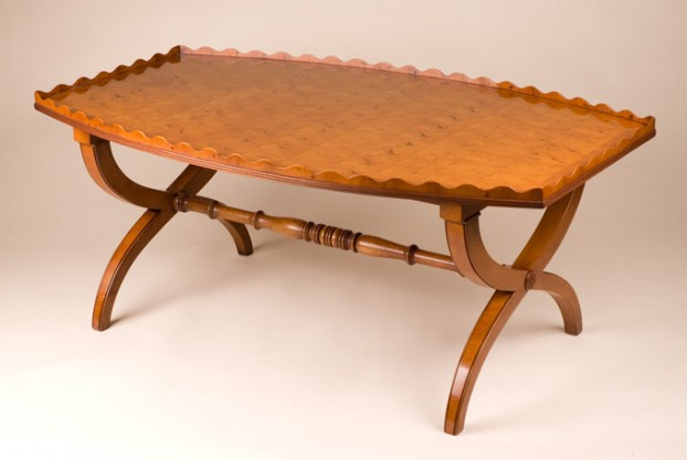 Reproduction Yew Wood Coffee Table