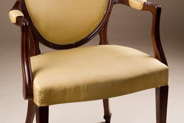 Reproduction Oval Back Armchair