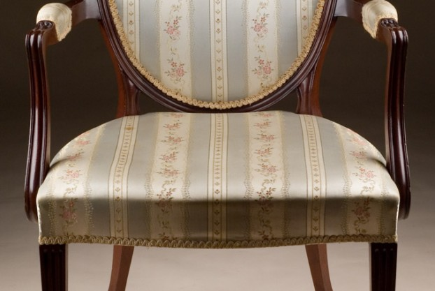 Custom Hepplewhite Style Armchair
