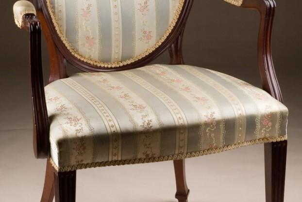 Single Oval Back Armchair