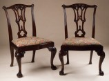 Reproduction Chippendale style side chairs