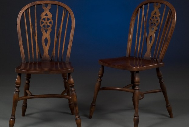 Pair of Wheel Back Windsor Chairs