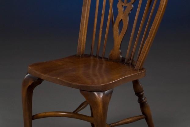 Custom Wheel Back Side Chair