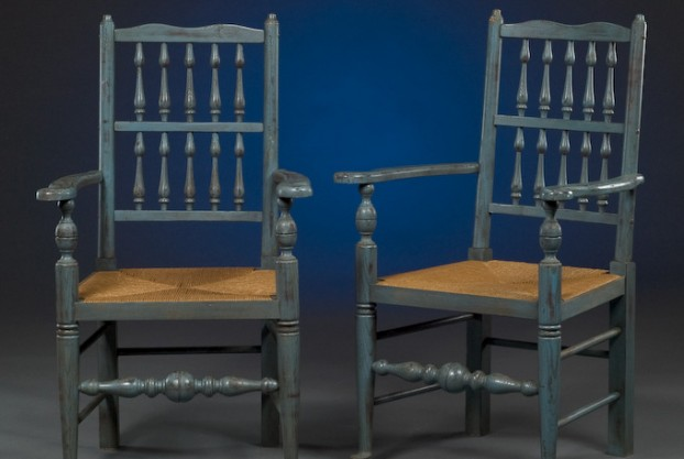 Pair of Painted Arm Chairs