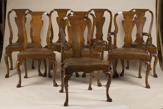 Set Of 8 Queen Anne Style Chairs