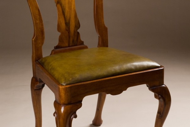 Reproduction Walnut Side Chair