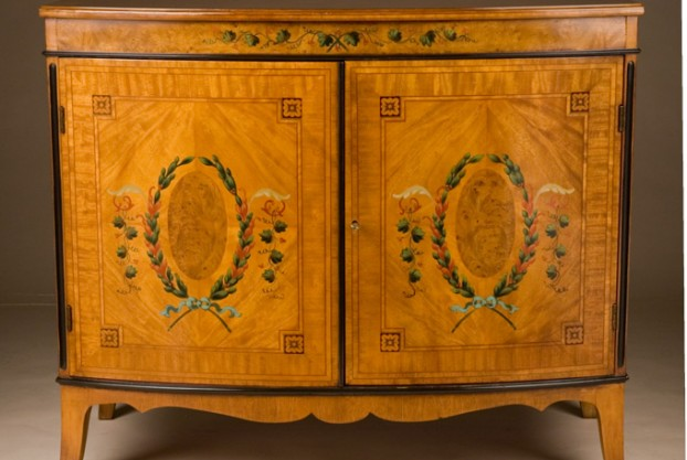 Reproduction Satinwood Commode