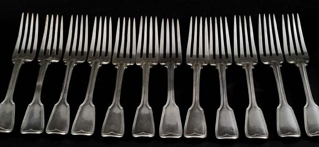 Set of Sterling Silver Table Forks By George Angell