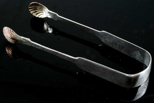Sheffield Silver Sugar Tongs