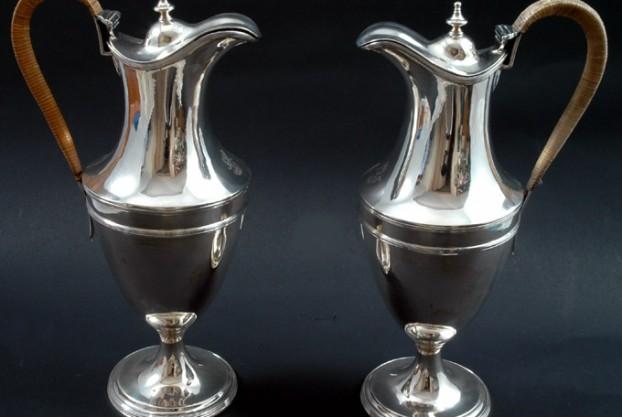 Georgian Silver Claret Jugs