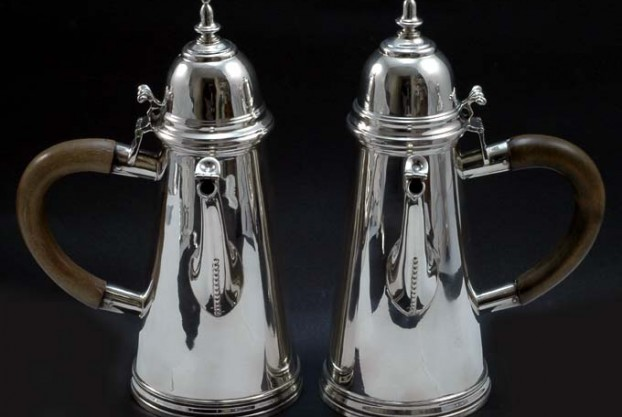 Sterling Silver Side Handle Pots