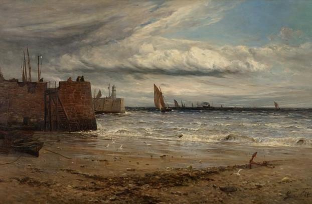 Seascape By Gustave de Breanski