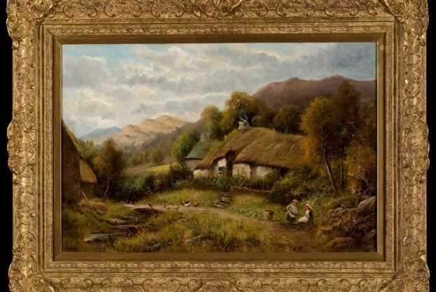 Country Landscape By William Langley