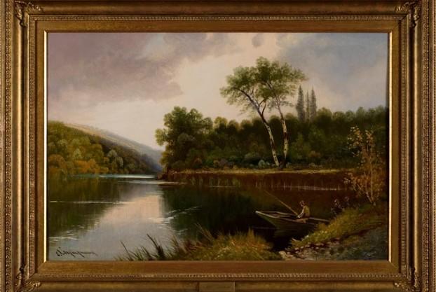River Scene By Maynard