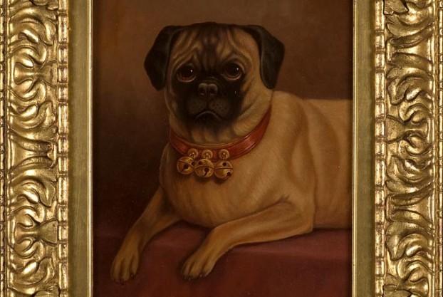 Pug Portrait Oil Painting