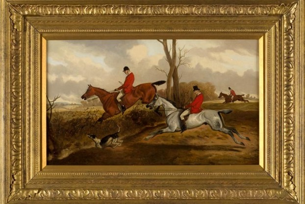 Fox Hunt Painting By Wheeler