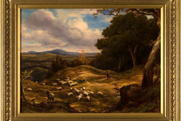 Sheep in a Landscape By Linnell