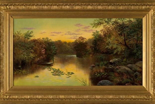 Edgar Longstaffe River Scene