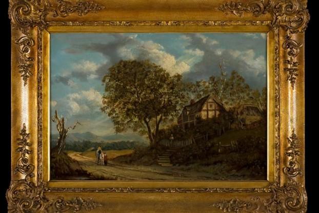 G.J. Knight Cottage Scene