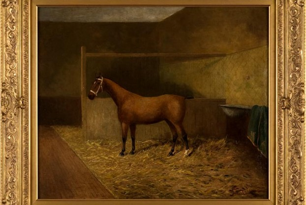Horse in a Stable By Clark
