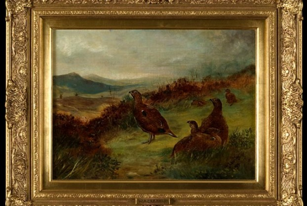 Grouse Painting By W Ackernley
