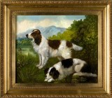 Pair of Spaniel Paintings byCharles Nesbitt