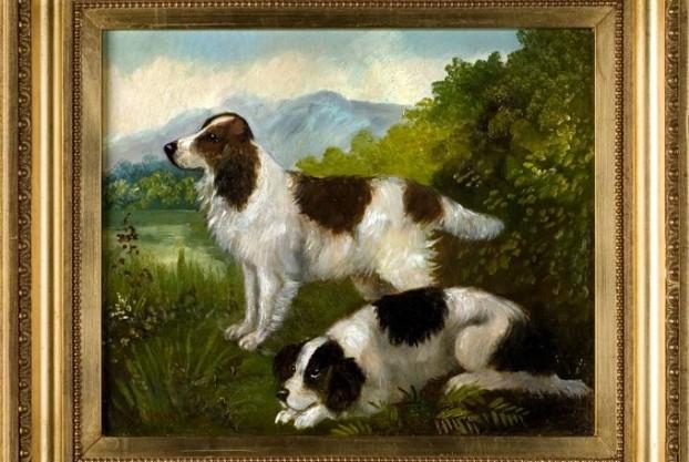 Pair of Spaniel Paintings byCharles Nesbitt