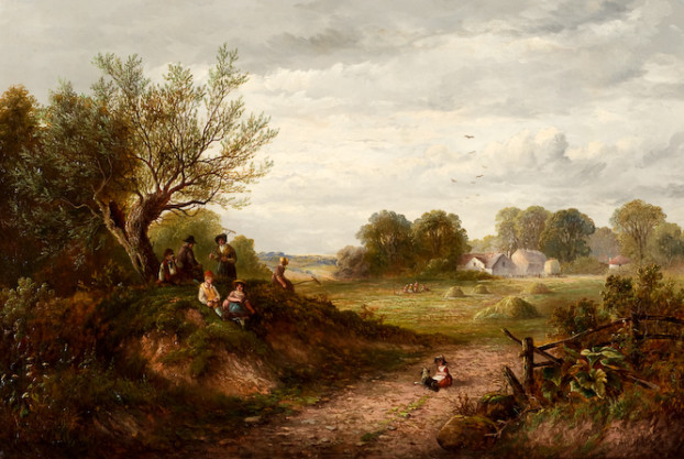 Country Scene With Figures