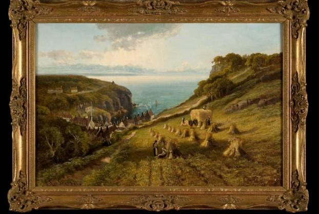 John Syer Hay Making Landscape